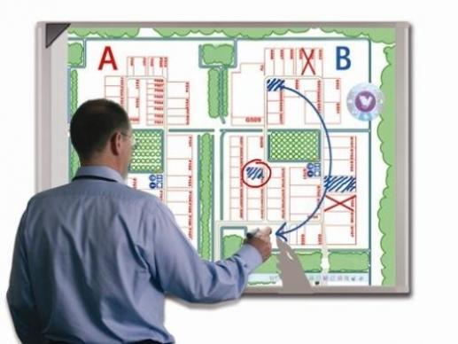 Интерактивные видеостены и мониторы (interactive whiteboard, e-board)