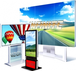 Каталог арендного оборудования (ЖК и плазменные модули для видеостен, сенсорные киоски, подставки, моторизированные крепления)